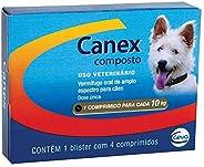 Vermífugo Ceva Canex Composto para Cães, 4 Comprimidos Ceva para Gatos