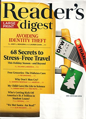 Readers Digest LARGE PRINT Magazine December 2017/January 2018 | Avoiding Identity Theft