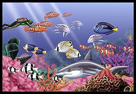 24 x 36 Multicolor Carolines Treasures PTW2031JMAT Undersea Fantasy 6 Indoor or Outdoor Mat