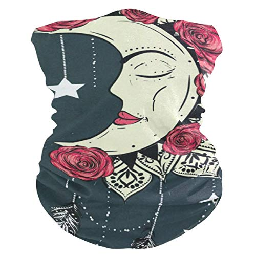 Moon MandalaBalaclava Womens Headband Scarf Mens Bandana,Muffler,Neck Gaiter,Magic,Wristband Neckerchief