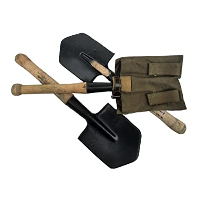 Made in USSR Soviet army soldiers sapper Shovel With Pouch 1984. WWII TYPE- MPL-50 MSL-50 : Garden & Outdoor