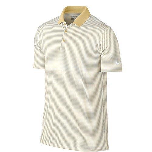 Nike Golf Victory Mini Stripe Polo (Team Gold/White) (X-Large)