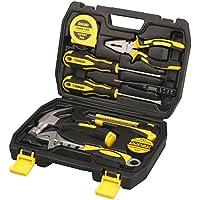 homeowner Juego de herramientas para Dowell 9-Pieces Kit de herramientas de mano con General de Hogares Caja de herramientas de plástico caso de almacenamiento