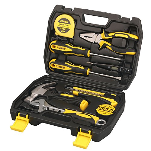 DOWELL 9PCS Small Tool Kit,Mini Portable Tool Set,Home Repai