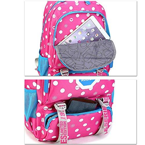 a34ed2922472c ... Wasserdichter Schulrucksack Schulranzen Schultasche Sports Rucksack  Freizeitrucksack Daypacks Backpack für Mädchen Jungen Kinder Damen Herren  ...