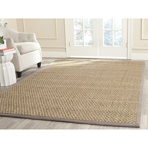 Safavieh Natural Fiber Collection NF114P Basketweave Natural and  Grey Seagrass Area Rug (11
