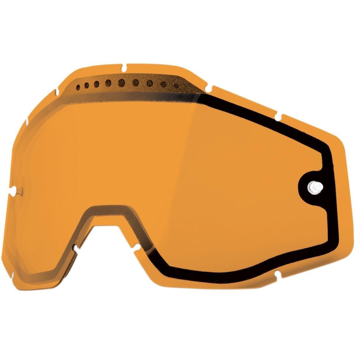 100% Dual Vented Lens for Racecraft/Accuri Goggles - Persimmon