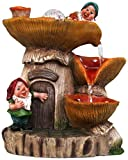 SINTECHNO SNF91157-3 Cute Gnomes with Water Fountain