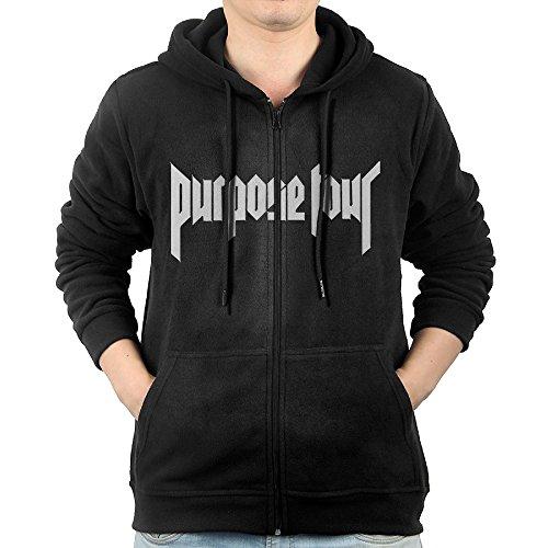 Mens Justin Bieber Purpose Tour Cool Zipped Sweatshirt
