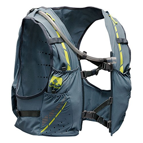 Nathan NS4536 Vaporkrar Hydaration Pack Running Vest with 1.8L Bladder, Blue Stone, Small by Nathan (Image #2)