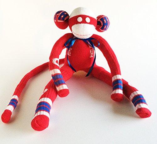 (Philadelphia Phillies - Sock Monkey - MLB - Major League Baseball - Red Sock Monkey - Baseball Sock Monkey - Tailgating Gift -Baseball)