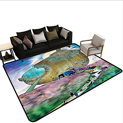 Noahs Ark,Printed Mats for Children Bedroom 36