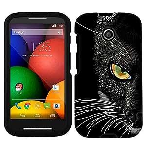 Moto E Black Cat Face Case
