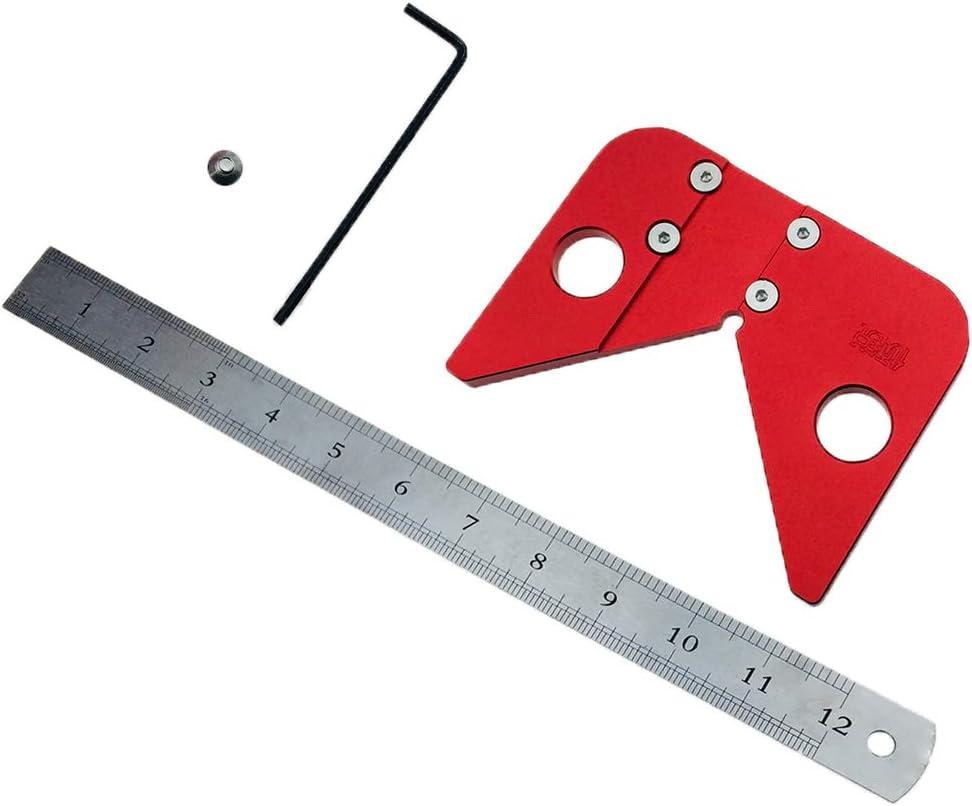 Centro de Carpinter/ía Calibrador Regla Carpintero Herramientas Manuales El/éctrica Parte Trabajo