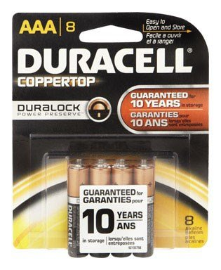 Duracell Alkaline Battery Size Aaa 1.5 V Card 8