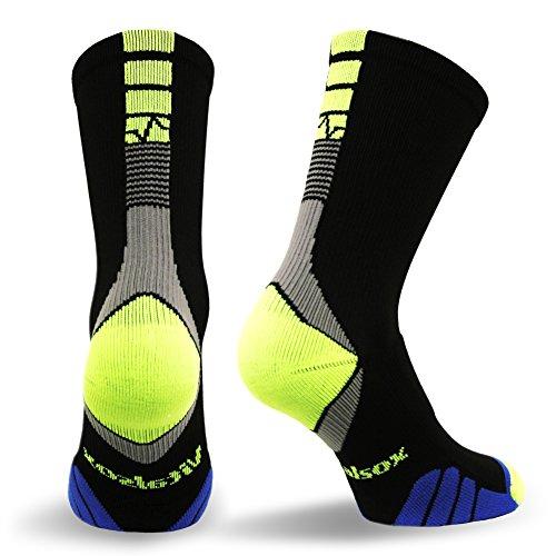 Vitalsox Bacteria Stopper & Odor Control Socks, Large, Black (Spartan Armor For Sale)