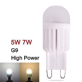 10pcs G9 LED 220V Bombilla Mini LED G9 Lámpara 7W Lámpara de maíz Luces de araña ...