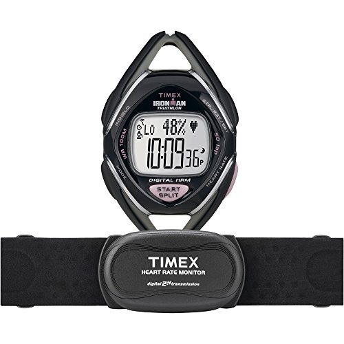 Timex Race Trainer Watch w/Heart Rate Monitor - Gray/Pink (Timex Zone Trainer)