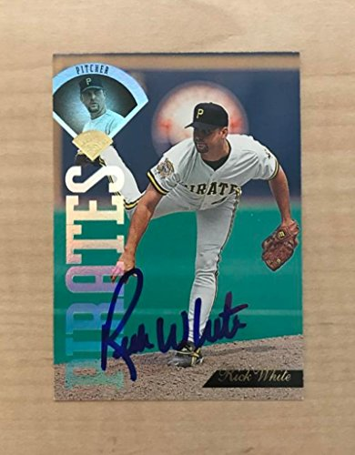 RICK WHITE PITTSBURGH PIRATES SIGNED AUTOGRAPHED 1995 LEAF CARD #152 W/COA