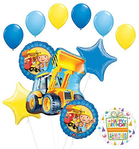 - Mayflower Products Bob The Builder Construction Party Supplies Birthday Balloon Bouquet Decorations