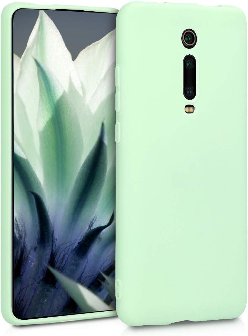 kwmobile Funda Compatible con Xiaomi Mi 9T (Pro) / Redmi K20 (Pro) - Carcasa de TPU Silicona - Protector Trasero en Menta Mate