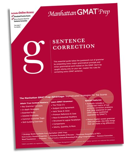 Sentence Correction GMAT Preparation Guide (Manhattan Gmat Prep)