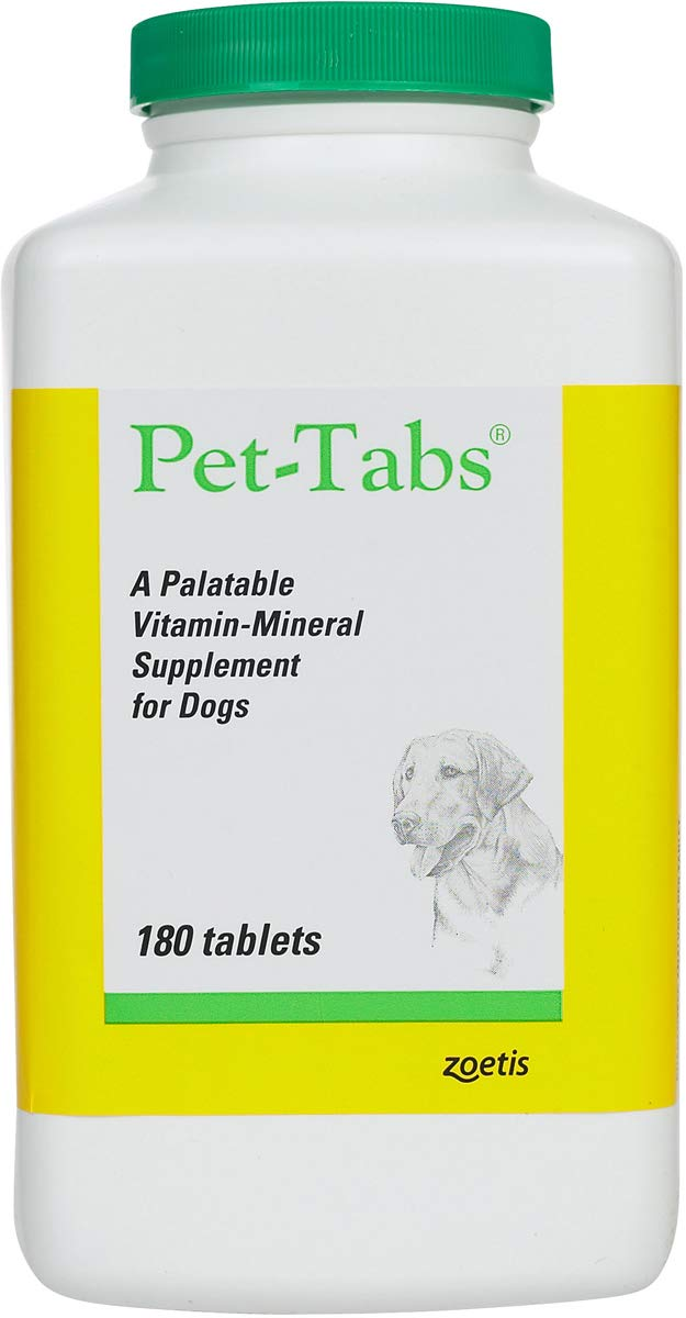 Pet Tabs Original Formula Vitamin Supplement, 180 Count by Pet-Tabs
