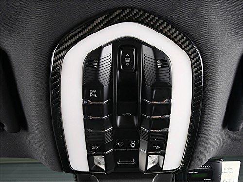 HOTRIMWORLD Carbon Fiber Front Roof Reading Light Trim Cover 1pcs for Porsche Macan 2014-2018 by HOTRIMWORLD (Image #3)