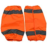 Petra Roc OOG-CE ANSI Class E Waterproof Reflective Leggings with Adjustable Velcro Closures, One Size, Orange