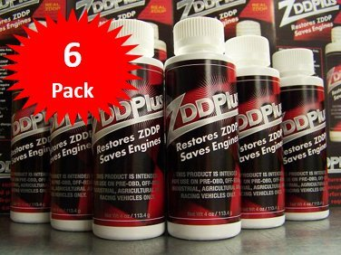 ZDDPPlus ZDDP Engine Oil Additive Zinc & Phosphorus 6 Bottle Pkg
