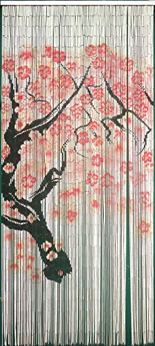 Bamboo 54 Cherry Blossom Outdoor Curtain Bamboo 54 Natural Bamboo