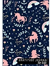 """Gratitude Journal For Kids: Unicorn & Floral : Daily Writing Today I am grateful for.. Girls Teen Happiness Notebook, Guide To Cultivate An Attitude Of Gratitude Practices for Happiness & Mindfulness. Size 7"""" x 10"""".(Diary Happiness Notebook For Children Boys Girls) (Volume 12)."""