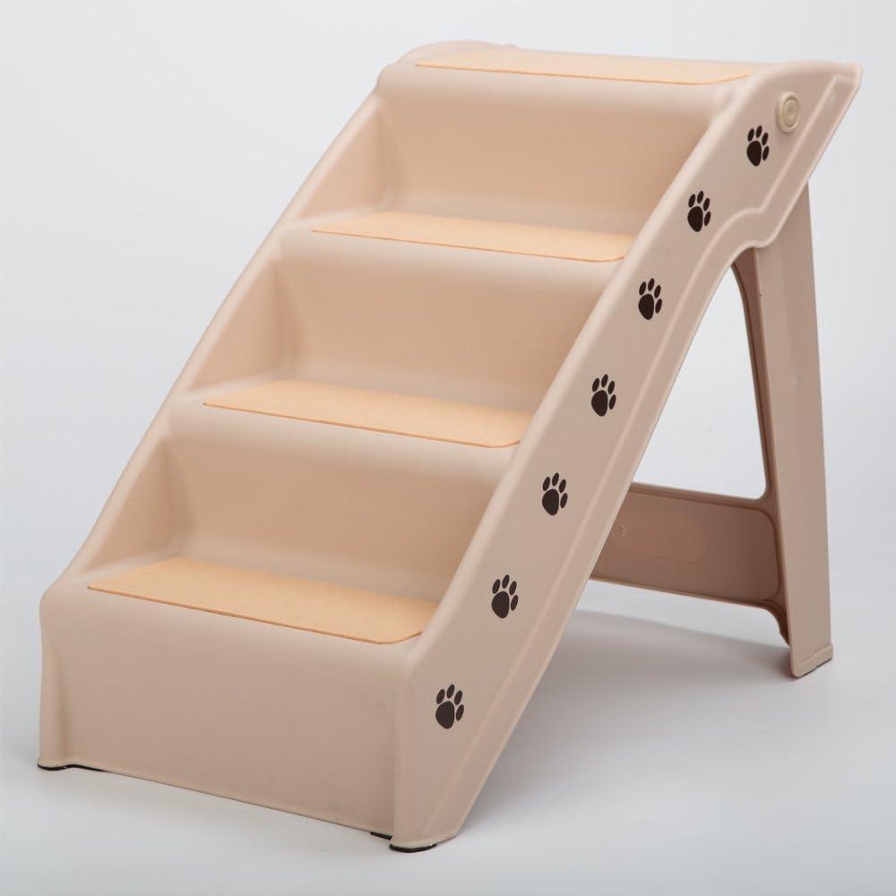RayGar® - Escaleras plegables de plástico para mascotas, ligeras, portátiles, de viaje: Amazon.es: Productos para mascotas