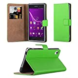 Sony Xperia Z1 Case - Wallet Book [Stand View] Card