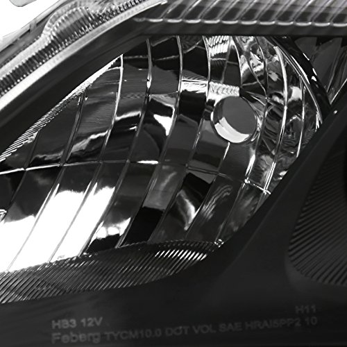 Spec-D Tuning 2LHP-CAM10JM-RS Black Projector Headlight
