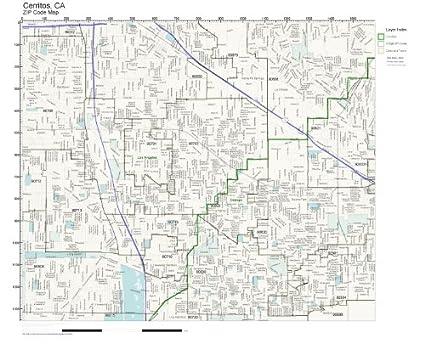 Amazon.com: ZIP Code Wall Map of Cerritos, CA ZIP Code Map Not