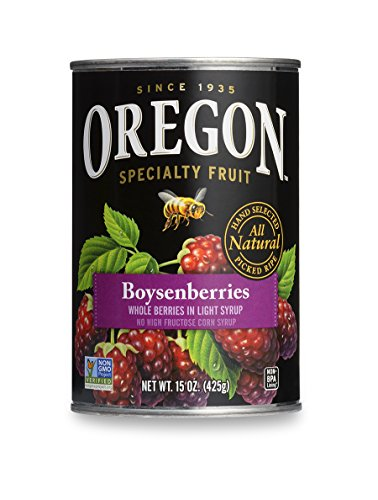 Oregon Fruit Boysenberries in Syrup, 15-Ounce Cans (Pack of 8)