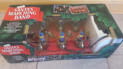 mr christmas vintage santas marching band musical holiday display by mr christmas holiday innovation
