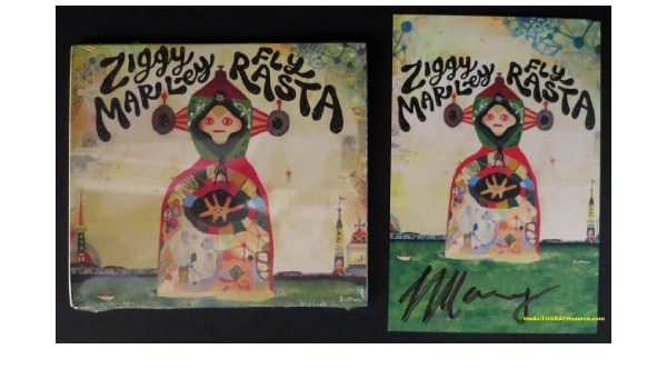 REGGAE FLY RASTA CD FRAMED PRESENTATION SIGNED//AUTOGRAPHED ZIGGY MARLEY