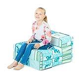 BLACK FRIDAY DEAL 2017 - Butterfly Design Girls Cotton Single Chair Bed Folding Mattress