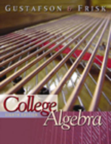 College Algebra (with CD-ROM, BCA/iLrn Tutorial, and InfoTrac) (Available Titles CengageNOW)