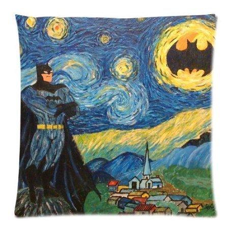 Diy-Hot Hot Sales Van Gogh Painting Batman Pillowcase 18X18 Inch Zippered Pillow Cover