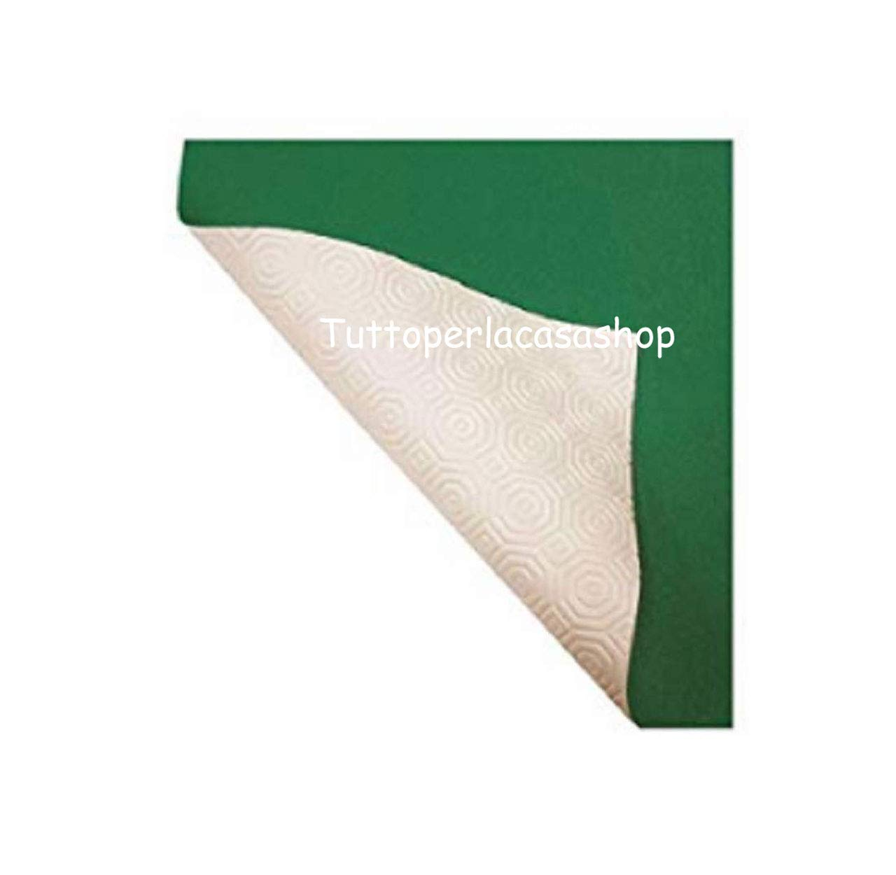 muletón verde blanco - Mantel protector de mesa goma Alt. cm 140 ...