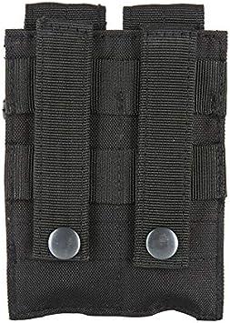 SHI-Y-M-ZDD Combate 600D 9MM Molle de Nylon t/áctico Dual de Doble Pistola mag Revista Bolsa de Funda for Cerrar Militar al Aire Libre Caza B