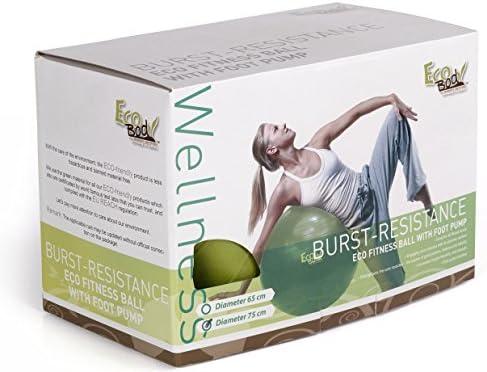 Eco Body Fitness pelota de Yoga con bomba – mejor para abdominales ...