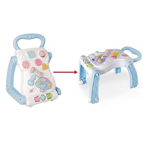 Sipobuy Bebé Primeros pasos Actividad Caminante y juego Mesa 2 EN 1 Sillas de aprendizaje para sentarse, de pie Juguetes para niños, niños, niños, ...
