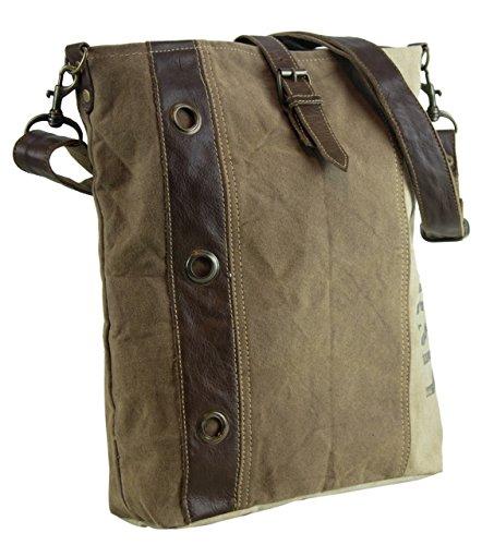 Sunsa Bolso de Vintage tela de de tela bolso de 51677 Bolso cuero hombro hecho mano compra con señora UrnBtxBY