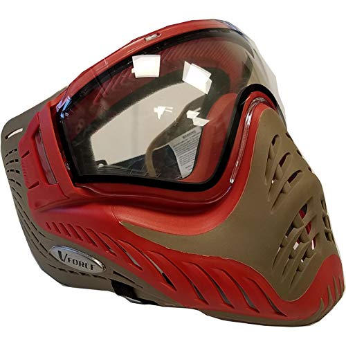- VForce Profiler Thermal Paintball Mask/Goggle - Red on Tan