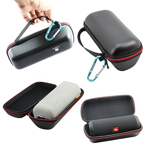 Pardus™ Pouch PU Splash-Proof Travel Carry Cover Bag Pouch Sleeve Portable Protective Box Cover Case Storage Box For Sony SRSBTS50 SRS-BTS50 / JBL FLIP3 Bluetooth Wireless Speaker - Speaker Portable Book