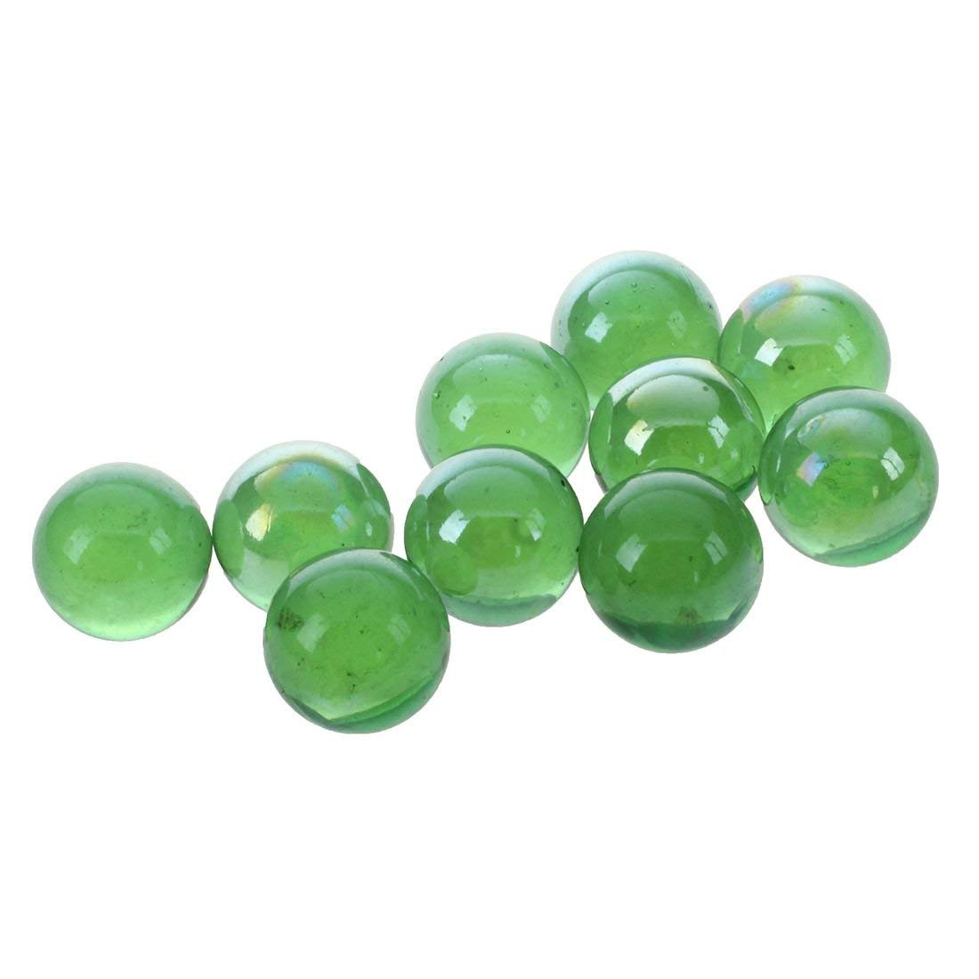 Tcplyn Premium Quality Glass Marbles - 10 Pcs Marbles 16mm Glass Marbles Knicker Glass Balls Decoration Color Nuggets Toy Green by Tcplyn (Image #6)